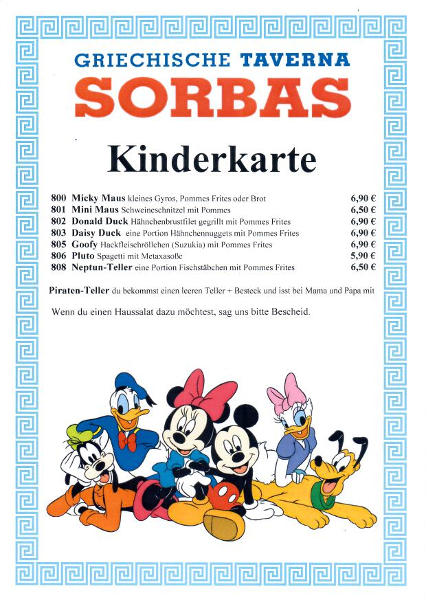 Kinderkarte 2020